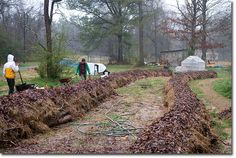 Hugelkultur: Composting Whole Trees With Ease - The Permaculture Research Institute ***Not sure if the wood we have available would be suitable***