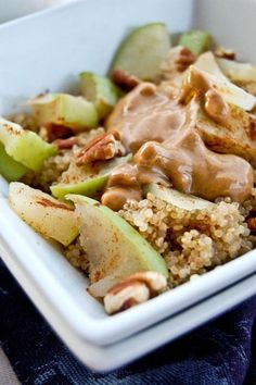 Apple Peanut Butter Breakfast Quinoa - so good! have never used coconut milk to make quinoa with and it was amazing!