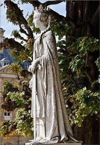 Matilda of Flanders, wife of William the Conqueror and mother of Henry I, the first woman to be crowned Queen of England, was born in 1031. Her father, Baldwin V, was the Count of Flanders, and her mother Adela, was a daughter Robert II the Pious Capet, King of France. Statue is located in the Jardin du Luxembourg, Paris, France. 27th GG mother William