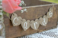 Mini Cards Banner-Cards Banner- Cards Sign- Rustic Wedding- Shabby Chic Wedding…