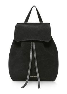 mansur gavriel black suede backpack