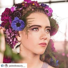 #Repost @jadedbeauty__  The #blizzard2016 in #Denver yesterday did not stop us from making this magical secret garden styled shoot come to life!  The floral crown @orchidprincessfloral created for her could not have been more perfect. It also gave me a wide open door to be creative and use vibrant purples and pinks with her make up while keeping her hair earthy with lots of braids and texture!  Venue: @mossdenver  Photography: @kjeanphotographyco  Florals: @orchidprincessfloral  Hair & make…