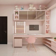 Love this desk but not the wall color. And how it fits with this room. - Love this desk but not the wall color. And how it fits with this room. Love this desk but not the wall color. And how it fits with this room. Bedroom Apartment, Small Room Bedroom, Home Office Design, Bedroom Design, Girls Bedroom, Bedroom Decor, Cute Room Decor, Small Apartment Bedrooms, Home Decor