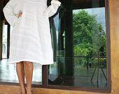 Sale...Never a dull day dress...Blue mix silk (S-L). $39.00, via Etsy.