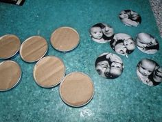 Diy idea for your photos. Made with jar lids. So cool. (Pic 2) it also can be a fridge magnet.