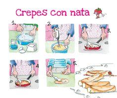 receta crepes con nata paso a paso - Día de la madre - Gemser Libros Personalizados