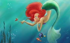 Fondos de escritorio dory | disney, Dibujos animados, Ariel, sirena, La Sirenita, mar, Algas, mudo ...