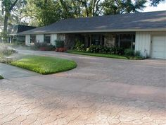 Stamped Concrete - Oviedo, FL - Photo Gallery - The Concrete Network Stamped Concrete Pictures, Stamped Concrete Driveway, Concrete Driveways, Outdoor Living, Outdoor Decor, Outdoor Ideas, Concrete Design, Back Patio, Swimming Pools