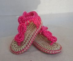 Baby Beach Sandals  Crocheted Baby Shoes  0 to by HalesBeeHandmade, $11.99
