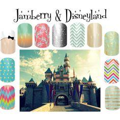 """Jamberry & Disneyland"" by angiodancer on Polyvore"