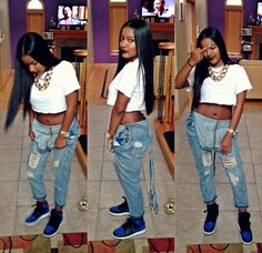 Shawty in dem retro 1 high og royal blue