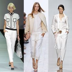 Beyaz bayan pantolonları White Shirts Women, White Suits, Passion For Fashion, What To Wear, Ready To Wear, Jumpsuit, T Shirt, Pants, Fashion Ideas