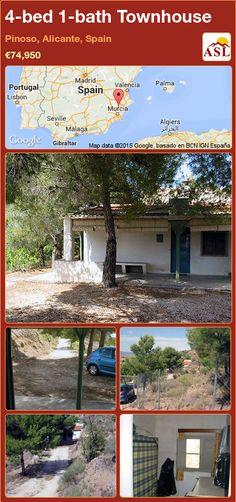 4-bed 1-bath Townhouse in Pinoso, Alicante, Spain ►€74,950 #PropertyForSaleInSpain