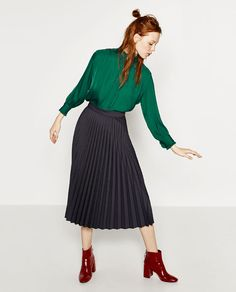 Image 1 of PLEATED SEMI-LONG SKIRT from Zara