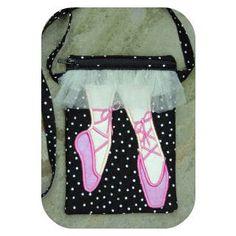 In The Hoop :: Purses & Wristlets :: Ballet Shoe Purse - Embroidery Garden In the Hoop Machine Embroidery Designs