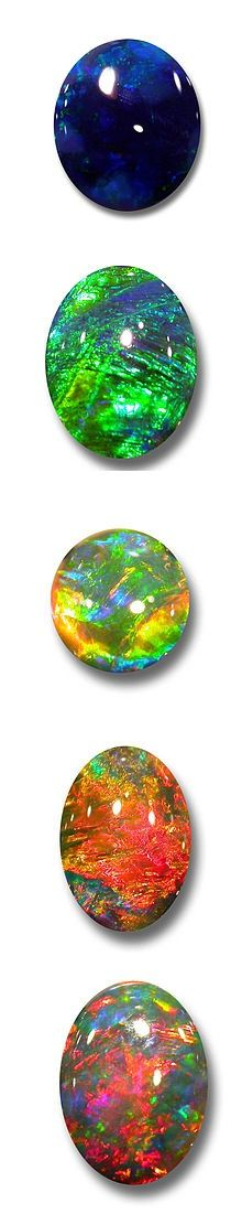Another example of hybrid opal gemstones. Minerals and mineralogy are so amazing!