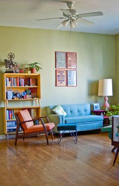 Reminds me of my attic apartment in Lakewood. I had this color on the walls of my living room... loved it!