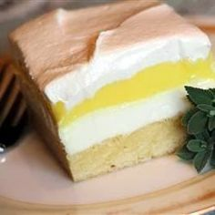 Lemon Lush - A family friend shared this lemon and cream cheese dessert with me. It has been a hit with our family now for all our get-togethers...