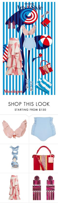 """""""Mustique POP"""" by ladyarchitect ❤ liked on Polyvore featuring Tori Praver Swimwear, Johanna Ortiz, Altuzarra, Sophie Hulme, Lele Sadoughi, outfitsfortravel and Mustique"""