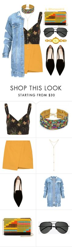 """""""Marigold"""" by the-messiah ❤ liked on Polyvore featuring Vilshenko, Vanessa Mooney, Fragments, Nicholas Kirkwood, Christian Louboutin and Yves Saint Laurent"""