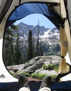 camping at Crater Lake, Oregon