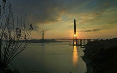 Vladivostok Cross sea Bridge Russia