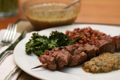 Argentine-Style Beef Skewers with Chimichurri Sauce | WeeklyGreens.com