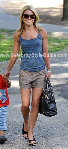 Seen on Celebrity Style Guide: Thanks to Sarah for the info on Kelly's shoes!