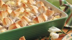 Check out this deliciously creamy pork sausage casserole made with Pillsbury® Grands!® biscuits – a hearty dinner.