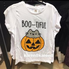 Pusheen The Cat T Shirt BOO-TIFUL Ladies Womens HALLOWEEN Primark