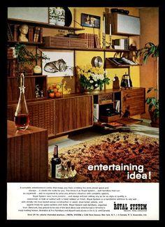 1968 Poul Cadovius modern teak wall furniture photo Royal System Cado print ad | eBay