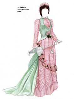 Vivien Leigh as, Anna Karenina 1947* Free paper dolls at Arielle Gabriel's The International Papef Doll Society and The China Adventures of Arielle Gabriel the huge China travel site by Arielle Gabriel *