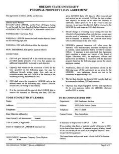How To Write A Personal Loan Contract 5 Agreement Templates Perfect Agreements Template Once Both Parties Have Authorized The