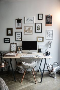 If you are one who works at home or remotely, then the presence of home office alias work space at home is a need worthy to consider. By having your own work space in your home, then you will feel … Home Office Design, Home Office Decor, Home Decor, Office Ideas, Desk Ideas, Decor Diy, Bedroom Office, Workspace Inspiration, Design Inspiration