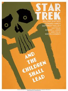 Episode 59: And the Children Shall Lead - Original Star Trek Series Poster by artist Juan Ortiz