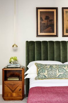 Great headboard and side table