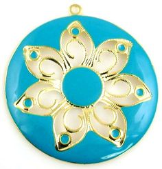 1 gold stamped art deco charm 10455
