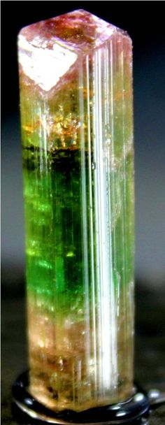 WOW 22 Carat Top Quality Terminated & Gemmy Bi Color TOURMALINE Crystal @Paprok