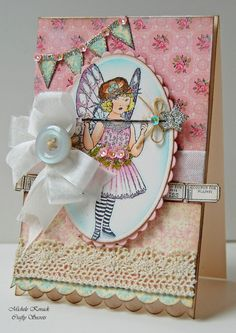 vintage fairy, sparkly fairy wand and bunting; love it