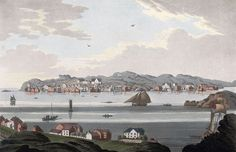 "File:Town of Christiansund (JW Edy plate 75).jpg English: ""Town of Christiansund"" Norsk bokmål: «Byen Christiansund» Drawing by John William Edy (1760-1820) from his journey along the coast of Norway during the summer of 1800. Published in Boydell's picturesque scenery of Norway in 1820."
