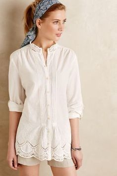 Isabella Sinclair Brimfield Lace Blouse #anthroregistry