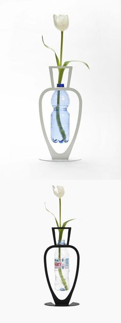 Primavera Bottle Vase // genius, recycling a perfectly good bottle #productdesign