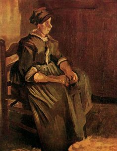 Vincent van Gogh: Peasant Woman Sitting on a Chair