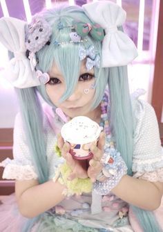 decora fairy kei...is this a miku cosplay or are they just using a wig similar to miku's?