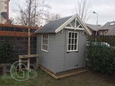 Lodge Style Garden Shed – Garden Sheds Ireland Garden Sheds Ireland, Dublin, She Sheds, Lodge Style, Side Window, Lodges, Pavilion, Looks Great, Outdoor Living
