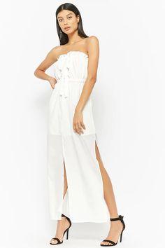 Product Name:Slit-Hem Tube Dress, Category:dress, Price:35