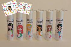 Mermaid Party Favors - Under the Sea Theme - Customized Lip Balm - Kids Lip Balm - Set of 6 - Free Customization - Lip Balm Party Favor on Etsy, $12.00