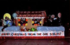 Pin by Amanda Arnold on Christmas Daisy Girl Scouts, Girl Scout Troop, Boy Scouts, Christmas Float Ideas, Christmas Parade Floats, Christmas Carol, Christmas Crafts, Christmas Games, Brownies Activities