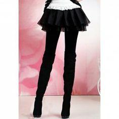 $9.62 Modern Style Slimming Double Layered Skirt Cotton Blend Legging For Women