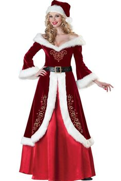 Red Mrs Claus Costume @ Christmas Costumes For Women,Sexy Christmas Costumes,Cheap Christmas Costumes,Womens Christmas Costumes,Christmas Dance Costumes,Adult christmas Costumes,Santa Costumes,Reindeer Costumes,Elf costumes,Christmas Lingerie,Holiday Costumes
